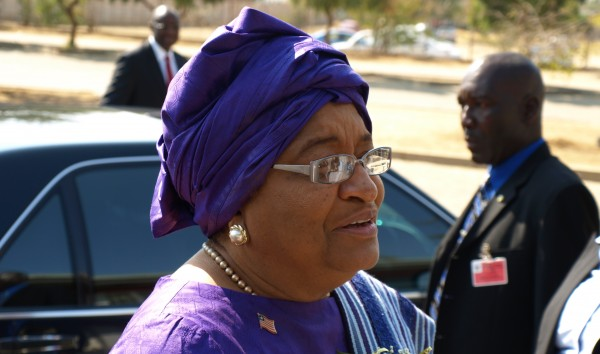 Ellen Johnson-Sirleaf in Namibia. Photo ©Tawanda Kanhema