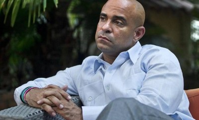 Haitian Prime Minister Laurent Lamothe at his home in Port-au-Prince on Monday, Dec. 15, 2014, a couple of days after his resignation PHOTO - PATRICK FARRELL MIAMI HERALD STAFF