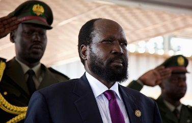 South Sudan's President Salva Kiir attends celebrations to mark the first anniversary of the country's independence at the John Garang memorial mausoleum in Juba, July 9, 2012. South Sudanese celebrating their nation's first birthday on Monday will bask in the pride of their hard-won political freedom, but many may ask when they will enjoy the material benefits promised by the government of former rebels.  REUTERS/Adriane Ohanesian (SOUTH SUDAN - Tags: SOCIETY ANNIVERSARY POLITICS)